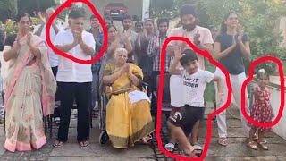 చప్పట్లు కొట్టకుండా డాన్స్ వేసిన అల్లు అర్జున్ కొడుకు Allu Arjun & Family Clapping Allu Ayaan Dance