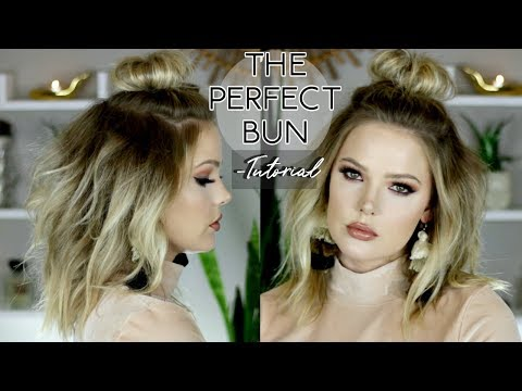 HALF UP TOP KNOT TUTORIAL | HAIR TIPS AND TRICKS // Mallory1712