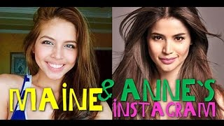 Maine Mendoza & Anne Curtis`s Instagram