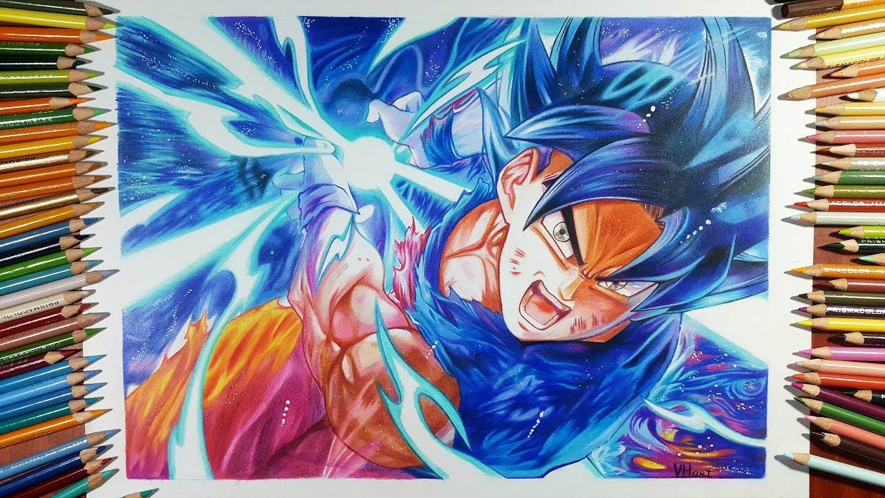 Speed drawing goku ultra instinct kamehameha youtube - Goku ultra instinct sketch ...