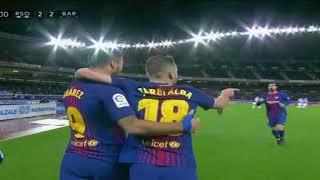 R Sociedad 2-4 FC Barcelona La Liga 2018 (Permbledhja Shqip)