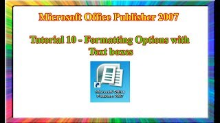 microsoft Publisher 2007 - how to format page backgrounds in publisher