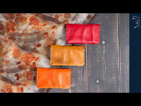 학생 직장인에게 추천하는 여자 지갑 수제 가죽으로 만든 독특한 나만의 명함 카드 지갑 business card wallet