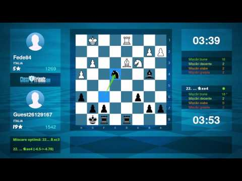 Chess Game Analysis: Fede84 - Guest26129167 : 0-1 (By ChessFriends.com)