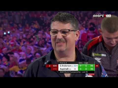 Gary Anderson Vs Nathan Aspinall Nyolcaddöntő PDC Darts Vb 2019.12.27 Este Magyar Közvetítés 3/2