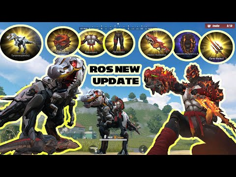 ROS Ninja Turtle Set And Weapons And T-REX Tyrannospeed Vehicle Skin Rules Of Survival (ROS UPDATE)