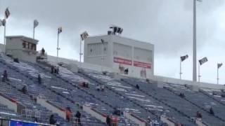 Wind at Ralph Wilson Stadium before Jets-Bills game on Jan. 3, 2016