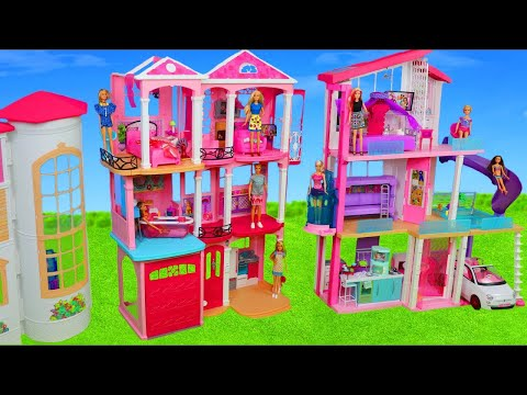 Barbie Dolls: Hello Dreamhouse Toy Dollhouse w/ Kitchen, Bathroom & Bedroom | Doll Play for Kids thumbnail