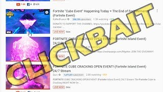 FORTNITE CUBE CRACKING OPEN EVENT! *CLICKBAIT* (Fortnite Island Event) 24/7 Streams