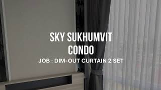 The Sky Sukhumvit Condo CURTAIN by ROOMDESIGN10