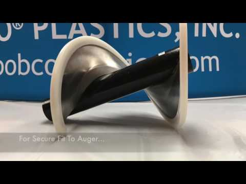 Screw Conveyor Flight Edging - YouTube
