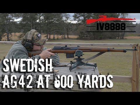 Swedish AG-42B at 600 yards