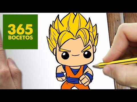 Como Dibujar Goku Kawaii Paso A Paso Dibujos Kawaii Faciles How