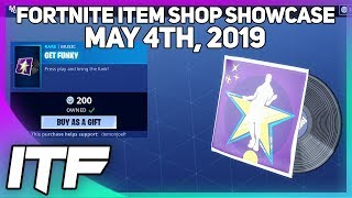 Fortnite Item Shop *NEW* GET FUNKY MUSIC PACK! [May 4th, 2019] (Fortnite Battle Royale)