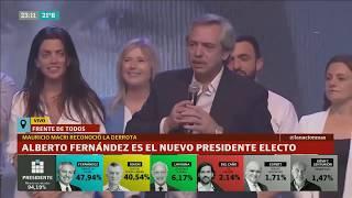 Discurso completo de Alberto Fernández presidente - Elecciones 2019 Argentina, resultados completos