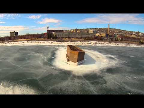 Sinking Duluth Cribs Areal Drone Footage