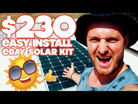 Easy Cheap Solar Kit for Going Off Grid, Free camping and Boondocking