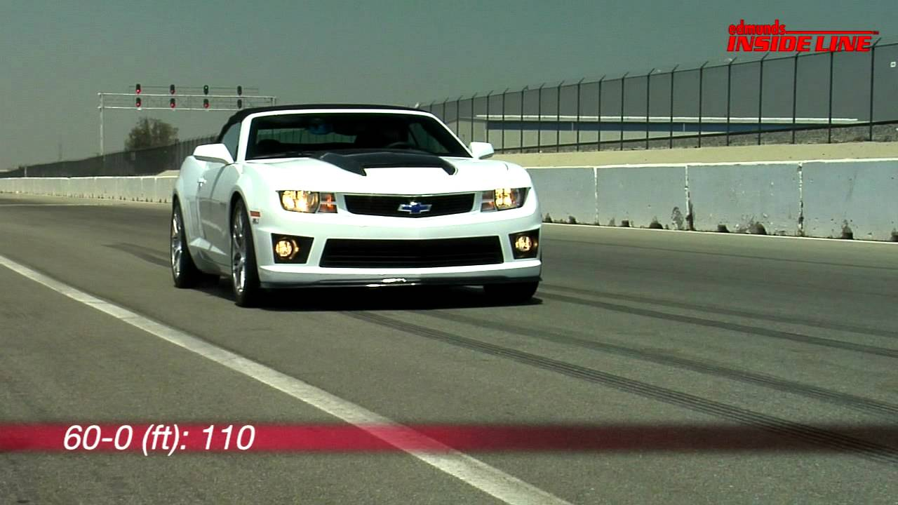 Awesome 2011 Chevrolet Camaro SLP ZL1 Convertible | Track Tested | Edmunds.com    YouTube