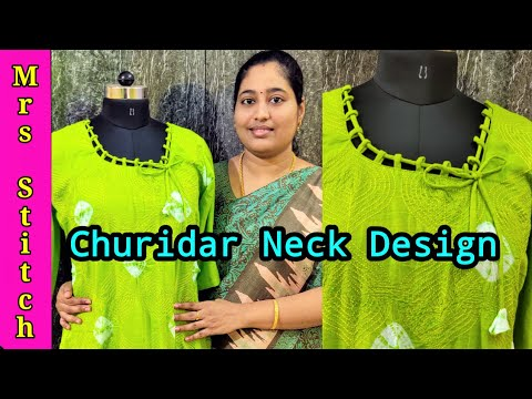 churidar-neck-designs-|-chudidar-cutting-and-stitching-in-tamil-|-mrs-stitch-blouse-house