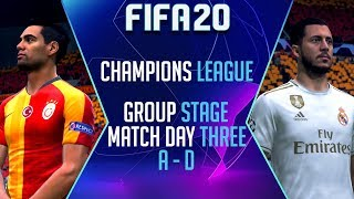 FIFA 20 CHAMPIONS LEAGUE | Match Day 3 Highlights (Group A - D)