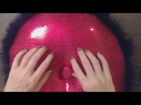 ASMR ~ Lightly Scratching Sequin Pillow + Inaudible Whisper