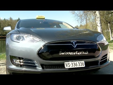 Tesla S85: une voiture luxueuse et électrique pour Swiss Eco Taxi à Crans-Montana