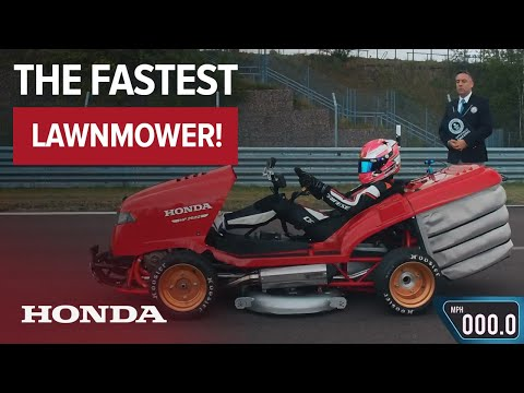 The Bus Driver - New Honda Lawn Mower Goes Over 150 mph!