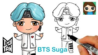 How to Draw BTS Suga Tiny TAN