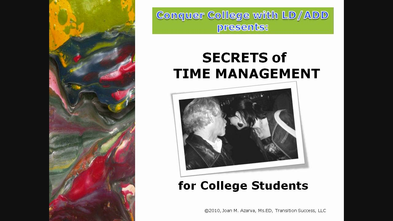 Time management for college students - Time Management For College Students 22