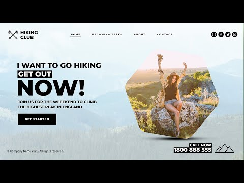 Hiking Club - HTML5 + CSS 3 Complete Reponsive Website Design
