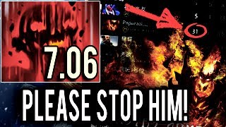 SOMEONE STOP HIM! Top 1 MMR in The World Shadow Fiend with 31 Kills by Paparazi 7.06 Meta Dota 2