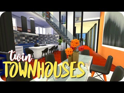 Sims 4: TWIN TOWNHOUSES | Speed Build