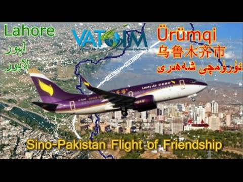 Feeling Lucky? PMDG B737 flies Vatsim Sino-Paki Flight.