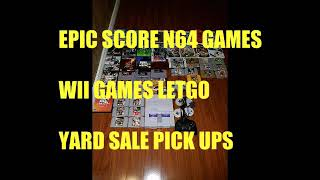 YARD SALE N 64. WII . SNES  & $$ EPIC WEEK OF GAME HUNTING  KHAN THE VIDEO GAME HUNTER
