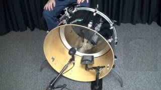 Bass Drum Mic Comparison, Shure Beta 91a vs AKG D112 Sound Test