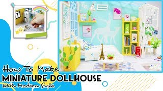 DIY DollHouse Wooden: How To Make Miniature Dollhouse With Modern Style