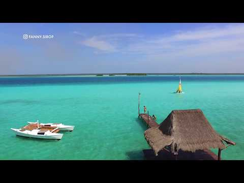 Travel Drone Movie of Bacalar in Mexico