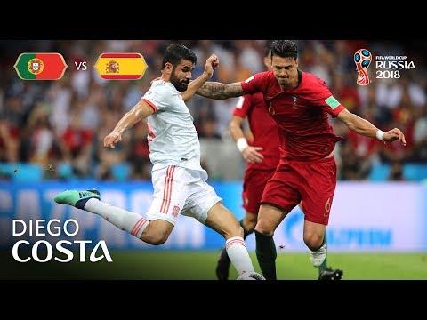 Diego COSTA Goal 1 - Portugal v Spain - MATCH 3