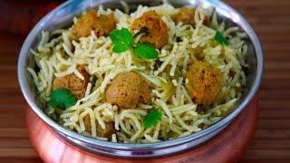 Soya chunks pulao- Meal maker pulav recipe