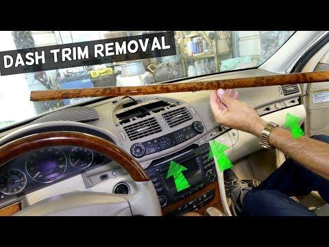DASH TRIM REMOVAL ON MERCEDES W211