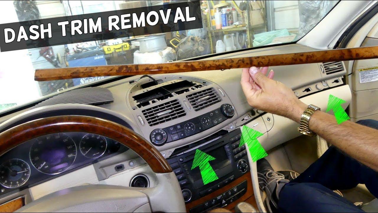 dash trim removal on mercedes w211 youtube. Black Bedroom Furniture Sets. Home Design Ideas