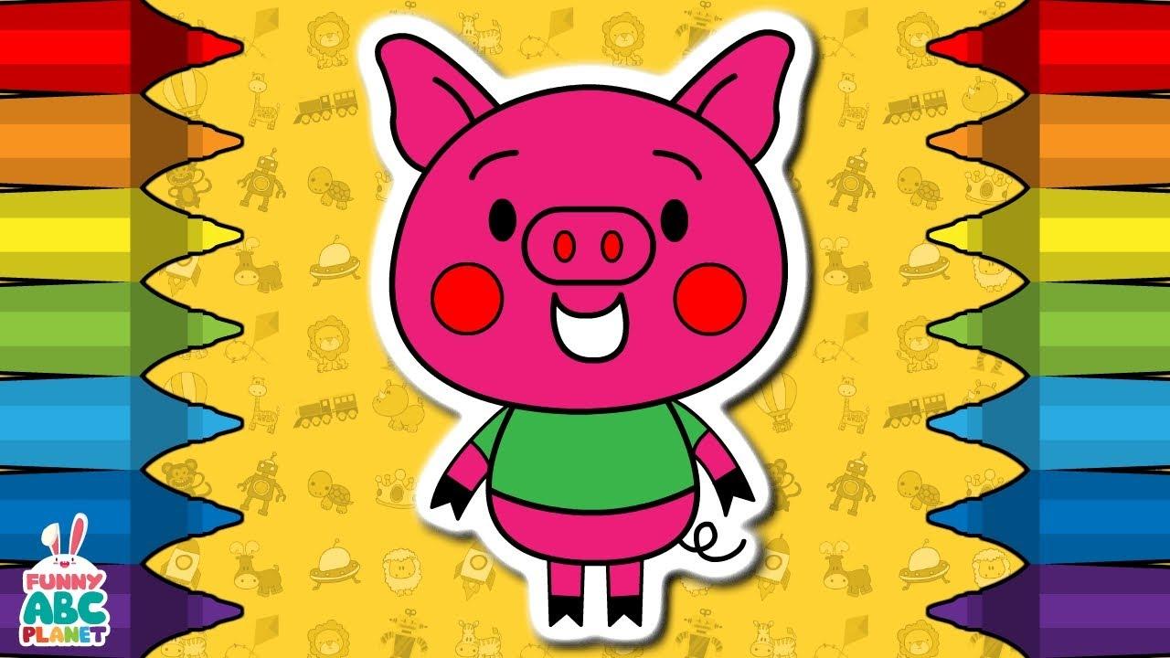 como desenhar um porquinho desenho pintura e animação passo a