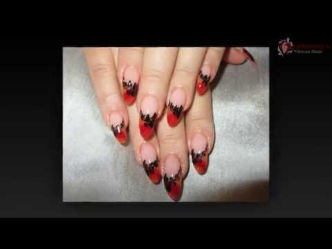 рисунки ногтей на острые ногти фото