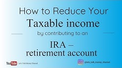 How to reduce taxable income AGI by contributing to an IRA retirement account #taxes #retirement