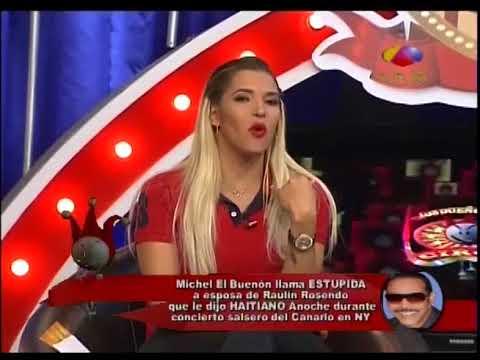 Michel el Buenon llama ĘSTUPÎDÅ a la esposa de Raulin Rosendo en pleno concierto en vivo
