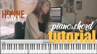 Honne - day1 Piano&chord tutorial! 혼네-데이원 피아노 코드 튜토리얼 영상!