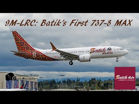 Batik Air Malaysia's First Boeing 737-8 MAX (9M-LRC) fully painted touch n go @ KPAE