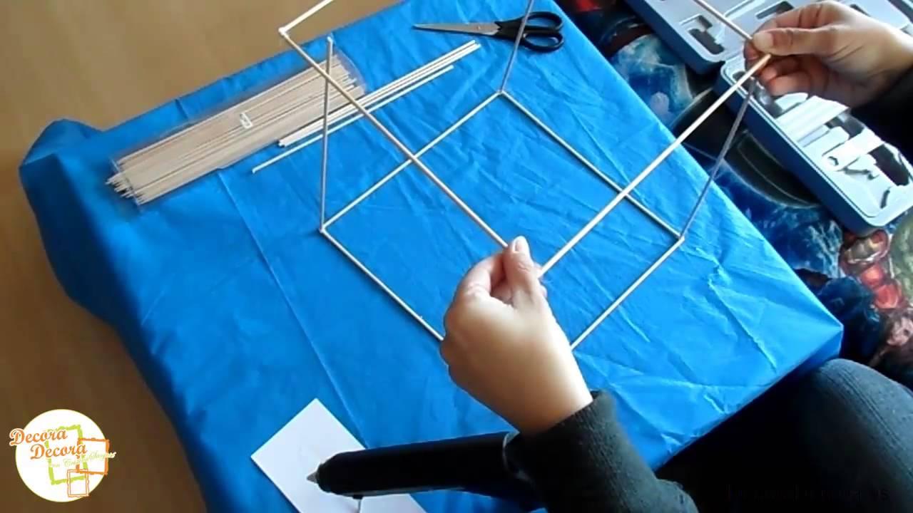 C mo hacer una estructura de casa con palos youtube - Como hacer casitas de madera para ninos ...