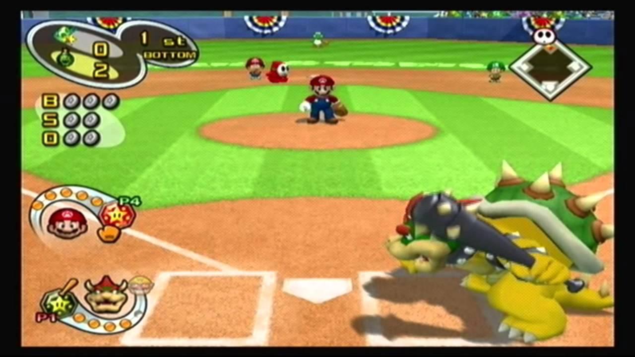 Mario Superstar Baseball Multiplayer - Game 1 - Yoshi Speed Stars @ Bowser Blue Shells - YouTube