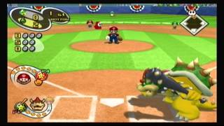 Mario Superstar Baseball Multiplayer - Game 1 - Yoshi Speed Stars @ Bowser Blue Shells
